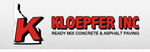 Kloepfer Inc Ready Mix Concrete & Asphalt Paving